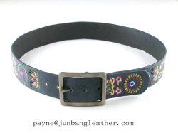 Moda Mujer mejor bordado cinturón de cuero