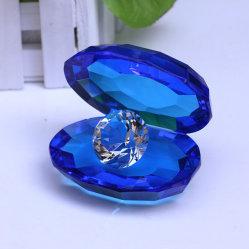 Purpurrotes Kristallshell mit Diamanten für Fertigkeit-Geschenk (Ks250409)