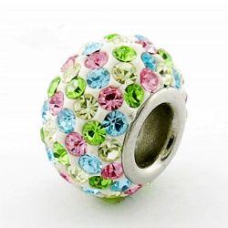 El agujero de 5cm Custom Glass Bead