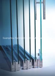 Puerta plegable Push-Pull de vidrio templado vidrio simple sin cerco Accesorios