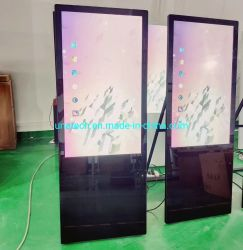 LCD Cubierta plegable portátil Digital Signage Cafetería Kiosco Tótem de medios de publicidad de la pantalla del reproductor de vídeo