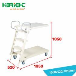 Het beweegbare Vouwbare Karretje van de Ladder van de Stap van het Pakhuis met Wielen