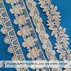 Merletto 100% del ricamo del cotone del testo fisso del merletto della guipure (C0191)