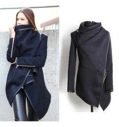 Vente chaude Fashion femmes à l'Élégant manteaux de laine d'hiver manches longues (14337)