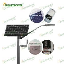 Projet du gouvernement 40W Rue lumière LED solaire avec contrôleur MPPT et Jinko panneau solaire plus stable que tout-en-un/Lampe LED intégrée de l'éclairage extérieur
