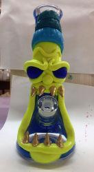 Tubo di fumo di vetro di Paiting della nuova mano di disegno 3D di Hbking nella fabbrica di vetro del tubo di acqua
