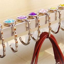 Foldable Purse Folding Purse 승진 선물 도매 형식 부피 책상을%s 주문 로고 금속 숙녀 훅 부대 걸이