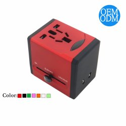 2prise internationale universelle USB Adaptateur de voyage Chargeur d'alimentation CA