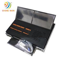 Controle de Ma DMX512 Iluminação DJ Console com caso de voo para as luzes do Cabeçote Móvel