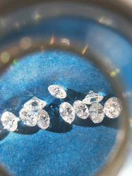 Commerce de gros 1TC 6.50mm rond brillant couleur coupe G/H Vvs diamant poli de pierre desserrés