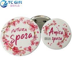 Brooch uniforme della decorazione di Custom Printing Colorful Flower Logo Button Lapel Pin Art Crafts Company qualsiasi distintivo dello stagno della latta di sport del banco di formato per il regalo promozionale