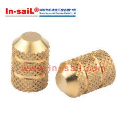 La norme DIN et insert fileté en laiton de moulage par injection de l'écrou avec la norme ISO9001 Point d'insérer les écrous pour le plastique