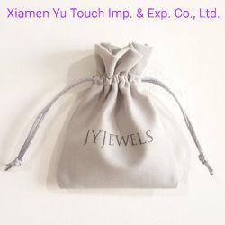 Sacchetto dei monili della pelle scamosciata/sacchetto falsi su ordinazione dei monili con il marchio
