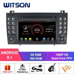 Processeurs quatre coeurs Witson Android 9.1 DVD de voiture GPS pour Mercedes-Benz SLK200/SLK280/SLK350/Slk55 2004-2012 Appuyer la pleine Sortie vidéo à Sub-Monitor comme lien miroir
