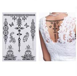 Tatuaggio provvisorio del tatuaggio di trasferimento dell'acqua del corpo dell'OEM & del ODM dell'autoadesivo dell'oro dell'argento dell'istantaneo del tatuaggio dell'autoadesivo metallico provvisorio del hennè