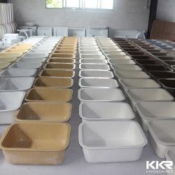 Commerce de gros Undercountersink Undermount Surface solide évier de cuisine bol lavabo