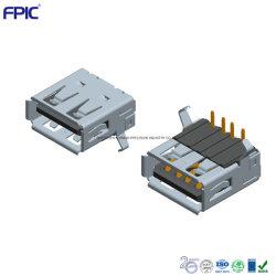 USB2.0 Af одной зарядки порт используется для бытовой электроники DIP установлен разъем для подключения адаптера питания 6.3mm высоты прохода 24 часов соли тестирования опрыскивателя