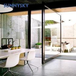 Les deux sens de rotation d'entrée en aluminium de plancher de verre de printemps porte pivot pour le secteur commercial