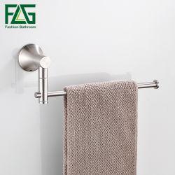 Flg ajustable Toallas Toalla de acero inoxidable titular solo toallero