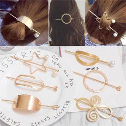 Ornamento de cabello amor Metal Star ronda una horquilla de cabello Peine Insertar Insertar una horquilla de peine de horquilla.