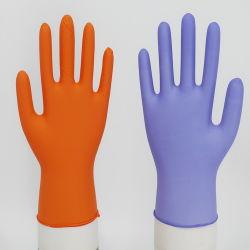 Gants non stériles jetables en latex non poudrés Gants en nitrile alimentaire des gants en nitrile jetables, ce certificat de la FDA