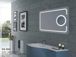 Konvexer LED Spiegel der nicht rostenden Hauptwand-Dekor-magischen silbernen Möbel-