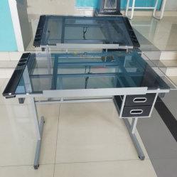 La estación de Arte Artesanía una mesa de estudio superior de cristal templado