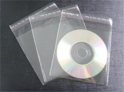 O OPP Bag OPP Bags OPP mangas OPP a luva e auto-adesivo Single Apagar CD DVD mangas de plástico