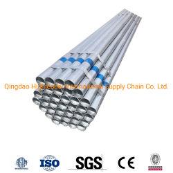 Soldado ou Preto carbono galvanizado Tubo de Aço, para a água/gás/Construção