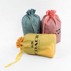Оптовая торговля печать логотипа подарок одежду пластиковый нейлоновый кулиской обувь мешок для сбора пыли Custom сумки с логотипом печать