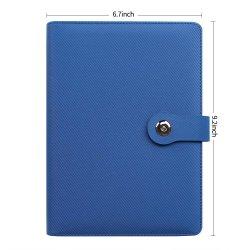 الكمبيوتر الدفتري من جلد PU الرقائق السائبة المخصص باللون الأزرق مقاس A5