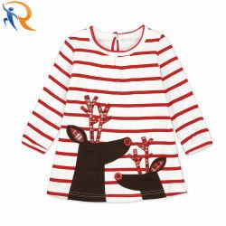 Оптовая торговля детьми девочка Рождество бутик оленя платья