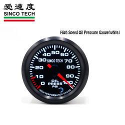 N6346 0-100 psi de pression d'huile de moteur pas à pas les jauges de voiture de course