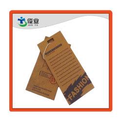 Высокое качество одежды индивидуального моды на этикетке мешка зерноочистки Хаг Tag марки повесить тег индекса для одежды