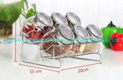 Condimento garrafas de vidro de alta qualidade Spice jar para utensílios de cozinha