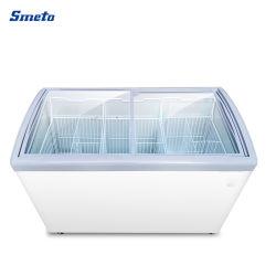 Supermercado comercial de sorvete de portas de vidro de correr Showcase Exibir congeladores do chiller do tórax