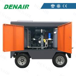 Alta pressão de gasóleo Parafuso Móvel/Portátil Fábrica do Compressor de Ar