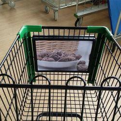 Collier de serrage de la poignée d'affichage Super Mall Panier signer châssis plastique