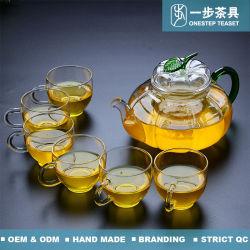 Hitzebeständiger Pyrex Glas-Tee-Potenziometer mit Griff