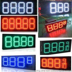 Цифровой индикатор Signage цен на газ на автозаправочной станции