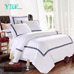 Yrf drap de lit blanc satin de coton feuille plate Drap Housse de couette literie taille unique défini