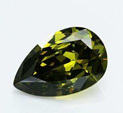 La pera all'ingrosso Olivine/del Peridot ha tagliato i branelli allentati della pietra preziosa di 3X5mm CZ