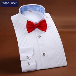 De façon personnalisée hommes Chemise à manches longues chemises en coton avec le filtre Bow Tie