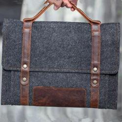 15pouces Tablet PC portables feutre gris manchon Mallette sacoche pour ordinateur portable d'affaires