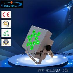 12X18W Rgbaw-UV 6en1 Wireless Batería plana PAR proyector LED