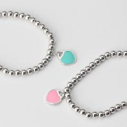 Braccialetto a forma di del branello di modo dei monili del cuore popolare dell'acciaio inossidabile