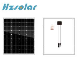 Monocrystalline 급료 10W 30W 50W 70W 90W 120W 작은 태양 전지판