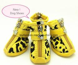 Haustier bereift Hundeaufladungs-Kleid-Haustier-Schuhe