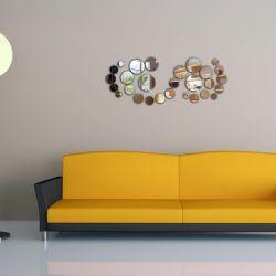 Wand-Aufkleber des DIY Umlauf-Spiegel-3D steuern Dekoration-Entwurf automatisch an