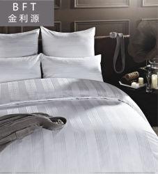 Baumwollhotel-Textilbettwäsche gesetztes /Bedding des Jacquardwebstuhl-100% weiße